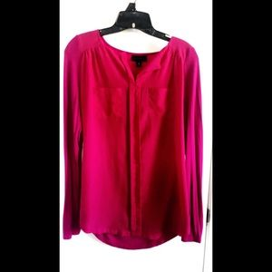 Hot Pink Polyester and Cotton Shirt from JcPenny